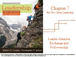 Leader-Member Exchange and Followership PowerPoint PPT Presentation
