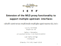 Extension of the MLD proxy functionality to support multiple upstream