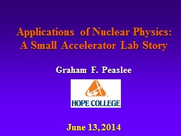 Applications of Nuclear Physics: