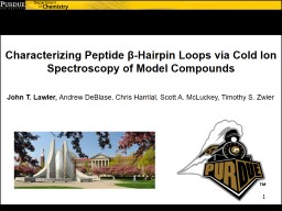 Characterizing Peptide  β PowerPoint PPT Presentation