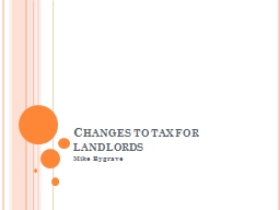 Changes to tax for landlords