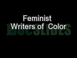 Feminist Writers of  Color