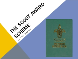The scout award scheme By