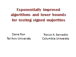 Exponentially improved  algorithms and lower bounds