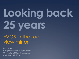 Looking back 25 years EVOS in the rear view mirror