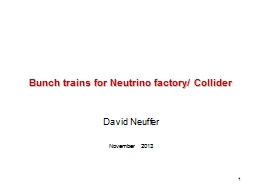 1 Bunch trains for Neutrino factory/ Collider
