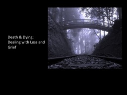 Death & Dying; Dealing with Loss and Grief