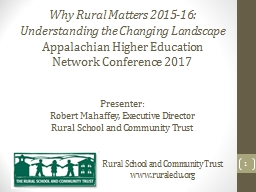 Why Rural Matters 2015-16: PowerPoint Presentation, PPT - DocSlides