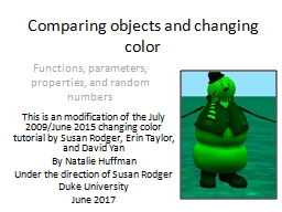 Comparing objects and changing color