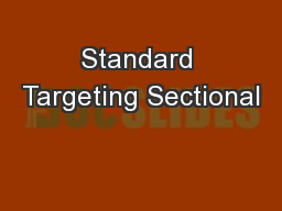Standard Targeting Sectional