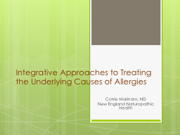 Integrative Approaches to Treating the Underlying Causes of Allergies