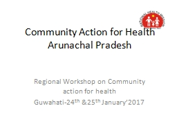 Community Action for Health PowerPoint PPT Presentation