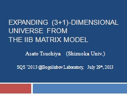 Expanding (3 1)-Dimensional universe from                        the IIB matrix model