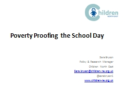 Poverty Proofing the School Day
