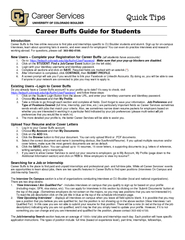 Introduction Career Buffs is the free online resource