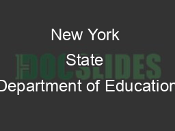 New York State Department of Education