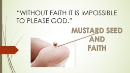 """""""WITHOUT FAITH IT IS IMPOSSIBLE TO PLEASE GOD."""""""