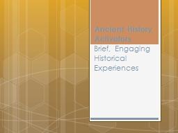 Ancient History Activators