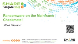 Ransomware on the Mainframe PowerPoint PPT Presentation
