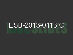 ESB-2013-0113 C&A Brokerage Services