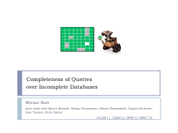 Completeness   of   Queries