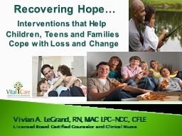 Recovering Hope…