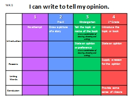 I can write to tell my opinion.