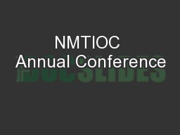 NMTIOC Annual Conference