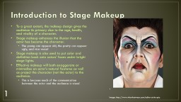 Introduction to Stage Makeup