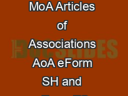 Page of  State wise stamp duty rules for eForm INC  INC  Memorandum of Association MoA Articles of Associations AoA eForm SH and eForm FC Stamp duty rules for INC  INC  MoA AoA and SH Name of state un
