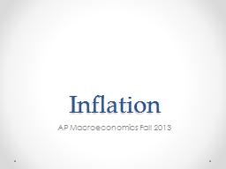 Inflation AP Macroeconomics Fall 2013