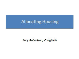 Allocating Housing  in Rural Areas