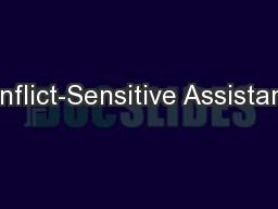 Conflict-Sensitive Assistance PowerPoint PPT Presentation