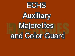 ECHS Auxiliary Majorettes and Color Guard