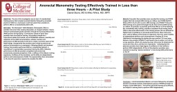 Anorectal Manometry Testing Effectively Trained in Less than three Hours – A Pilot Study PowerPoint PPT Presentation