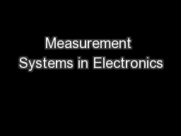 Measurement Systems in Electronics