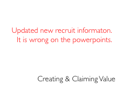 Creating & Claiming Value