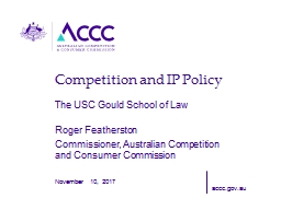 Competition and IP Policy