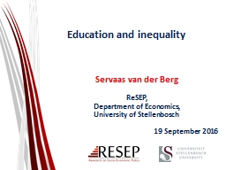 Education and inequality PowerPoint PPT Presentation