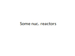 Some  nuc .  reactors Nuclear reaction by Fission PowerPoint PPT Presentation