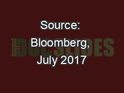 Source: Bloomberg, July 2017