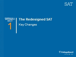 The Redesigned SAT Key Changes