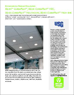M CP  M CP  HRC M CP  H M CP  H E P D For over a century sustainable practices have naturally been an inherent part of our business at USG
