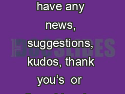 R esourceful    Futures If you have any news, suggestions, kudos, thank you's  or  thoughts, plea PowerPoint PPT Presentation
