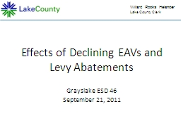 Effects of Declining EAVs and Levy Abatements