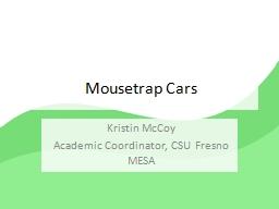 Mousetrap Cars Kristin McCoy