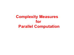 Complexity Measures  for