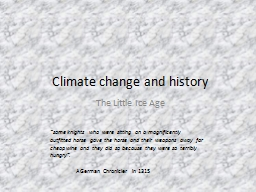 Climate change and history