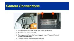 Camera Connections Connect camera to outlets inside grey box in the Pedestal. PowerPoint PPT Presentation