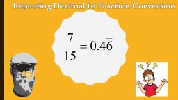 Repeating Decimal to Fraction Conversion